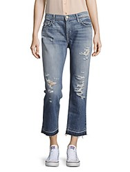 Current Elliott Distressed Five Pocket Jeans Ruffian Destructed