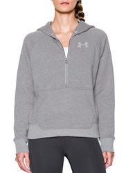 Under Armour Cotton Blend Fleece Hoodie Silver