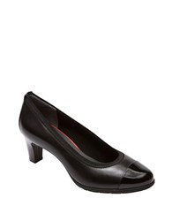 Rockport Total Motion Melora Captoe Leather Pumps Black