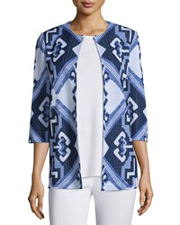 Misook 3 4 Sleeve Aztec Pattern Jacket Women's