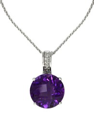 Effy 14K Yellow Gold And Green Amethyst Pendant Necklace With Diamonds Purple