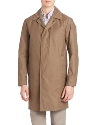 Theory Button Front Trench Coat Calf