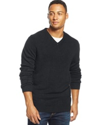 Weatherproof Textured V Neck Sweater