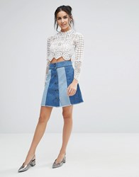 Jovonna Jovanna Getaway Denim Skirt Blue