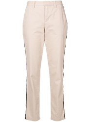 Zadig And Voltaire Pomelo Striped Trousers Neutrals