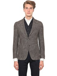Tagliatore Textured Wool And Cotton Blend Jacket