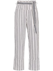 Lemlem Tigist Pie Striped Belted Trousers 60