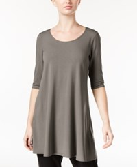 Eileen Fisher Jersey Scoop Neck Tunic A Macy's Exclusive Smoke