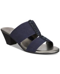 Karen Scott Zaila Slip On Sandals Navy