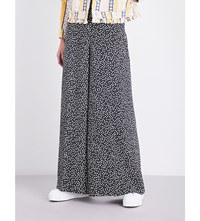Esprit X Opening Ceremony Floral Print Relaxed Fit Wide Woven Trousers Black