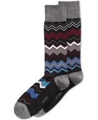 Alfani Men's Chevron Stripe Socks Only At Macy's Dark Grey Heather