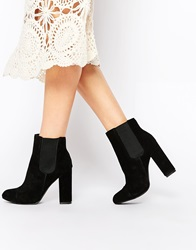 London Rebel Tonga Suede Ankle Boots Blacksuede
