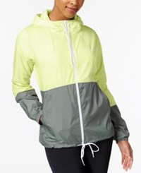 Columbia Flash Forward Fleece Lined Windbreaker Spring Yellow Sedona Sage