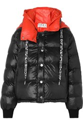 Proenza Schouler Pswl Reversible Hooded Quilted Shell Jacket Black