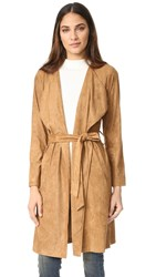 Bb Dakota Faux Suede Coat Whiskey