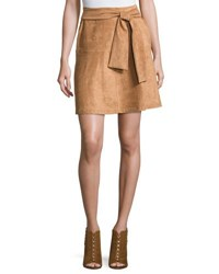 State Of Being Eliza Faux Suede Skirt Rust