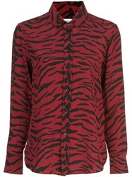 Saint Laurent Zebra Print Shirt Red