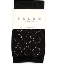 Falke Chic Mosaic Cotton Blend Socks 3000 Black