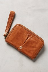 Anthropologie Navy Pleated Wallet Cedar