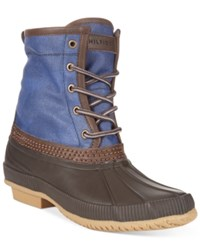 Tommy Hilfiger Men's Collins Waterproof Duck Boots Only At Macy's Men's Shoes Brown Blue