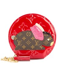 Louis Vuitton Vintage Lapin Coin Purse Red