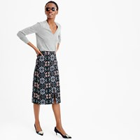 J.Crew Pre Order A Line Midi Skirt In Mirrored Floral