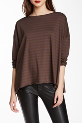 Planet Striped Tee Brown