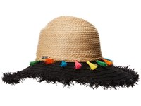 San Diego Hat Company Rbl4825os Ribbon Brim W Raffia Braid Crown Black Caps