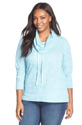 Plus Size Women's Sejour Heathered Cowl Neck Pullover