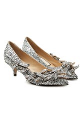 N 21 Glitter Kitten Heel Pumps With Bows Multicolored
