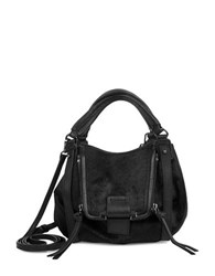 Kooba Jonnie Mini Calf Hair Mini Satchel Black