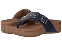 Vionic Capitola Navy Sheep Nappa Women's Sandals Blue