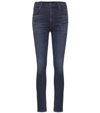 Citizens Of Humanity Chrissy High Waisted Skinny Jeans Blue