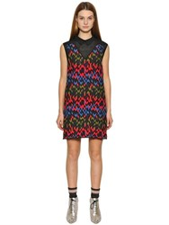 M Missoni Viscose Blend Jacquard Knit Dress