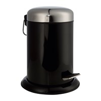 Moeve Metal Pedal Waste Bin Black