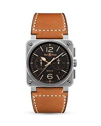 Bell And Ross Br 03 94 Golden Heritage Chronograph 42Mm Black Brown