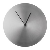 Menu Norm Wall Clock Stainless Steel