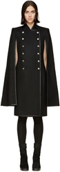 Gareth Pugh Black Wool Double Breasted Cape Coat