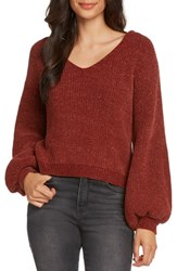 Willow And Clay Tie Back Chenille Sweater Sienna