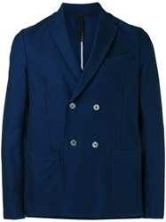 Harris Wharf London Double Breasted Blazer Blue