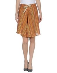 Mario Matteo Knee Length Skirts Orange
