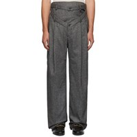 Y Project Grey V Cut Trousers