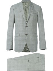 Etro Prince Of Wales Check Suit Grey