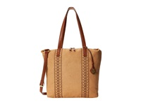 Lucky Brand Grenada Washed Linen Tote Sand Tote Handbags Beige