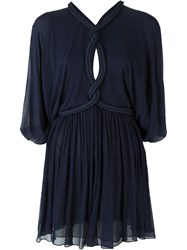 Jay Ahr Rope Detail Mini Dress Blue