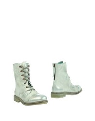 Now Ankle Boots Light Green