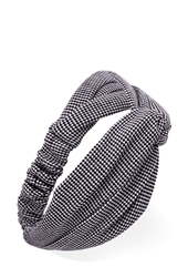 Forever 21 Knotted Houndstooth Headwrap