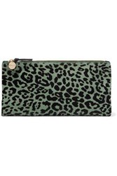 Clare V. Calf Hair Clutch Animal Print