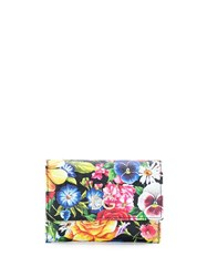 Dolce And Gabbana Floral Print Wallet Black