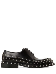Prada Studded Leather Lace Up Shoes Black